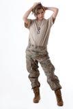 Menina 10 do exército Fotografia de Stock