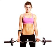 Menina do exercício Imagem de Stock