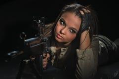 Menina do exército Foto de Stock Royalty Free