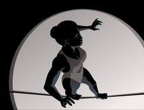Menina do fio elevado ilustração do vetor