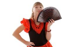 Menina do Flamenco Imagem de Stock