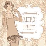 Menina do Flapper Imagens de Stock
