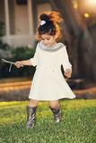 Menina do fulgor dourado Imagem de Stock Royalty Free