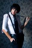 Menina do gângster Fotografia de Stock