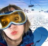 Menina do gelo Imagens de Stock
