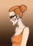 Menina do Glower Fotografia de Stock