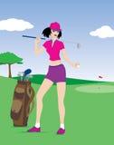 Menina do golfe Fotos de Stock