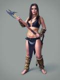 Menina do guerreiro antiga imagens de stock