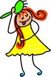 Menina do Hairbrush ilustração stock