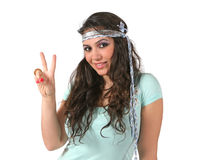 Menina do Hippie Foto de Stock Royalty Free