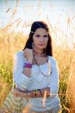 Menina do Hippie Imagem de Stock Royalty Free