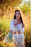 Menina do Hippie Imagens de Stock Royalty Free