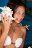 Menina do horoscope dos peixes Fotos de Stock