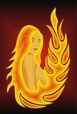 Menina do incêndio Imagem de Stock Royalty Free