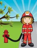 Menina do incêndio - vetor Foto de Stock