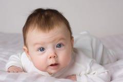 Menina do infante do bebê Foto de Stock