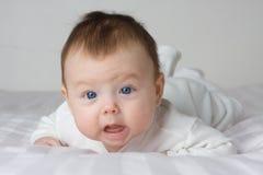 Menina do infante do bebê Imagem de Stock