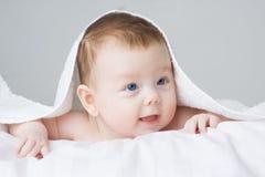 Menina do infante do bebê fotos de stock
