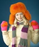 Menina do inverno Imagens de Stock Royalty Free