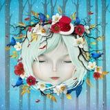 Menina do inverno ilustração royalty free