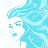 Menina do inverno da face Foto de Stock Royalty Free