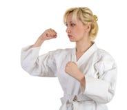 Menina do karaté. Imagem de Stock