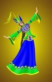 Menina do leste em um vestido verde Foto de Stock Royalty Free