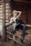 Menina do louro do encanto Imagem de Stock