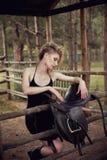 Menina do louro do encanto Foto de Stock