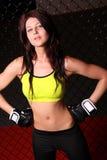 Menina do lutador Imagens de Stock