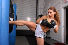 Menina do lutador Imagem de Stock Royalty Free