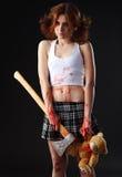 Menina do machado Imagens de Stock Royalty Free