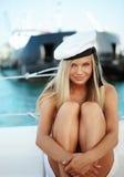 Menina do marinheiro fotografia de stock royalty free