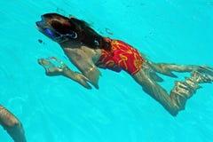 Menina do mergulho Imagens de Stock Royalty Free