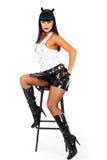 Menina do metal pesado Fotografia de Stock