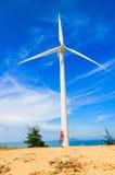 Menina do moinho de vento Fotografia de Stock