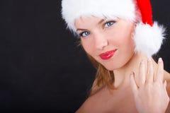 A menina do Natal Fotos de Stock Royalty Free