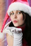 Menina do Natal Fotografia de Stock Royalty Free