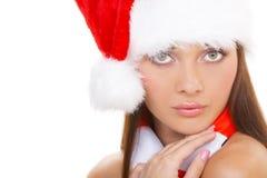 A menina do Natal imagens de stock