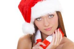 A menina do Natal imagem de stock