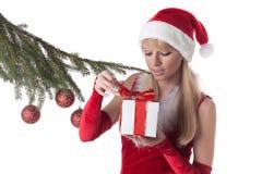 Menina do Natal. Imagem de Stock