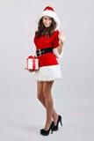 Menina do Natal Fotos de Stock Royalty Free