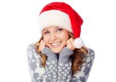Menina do Natal imagens de stock