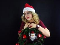 Menina do Natal Foto de Stock