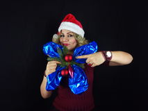 Menina do Natal Fotografia de Stock