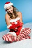 Menina do Natal da neve Imagem de Stock