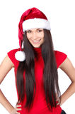 Menina do Natal isolada Foto de Stock