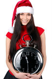 Menina do Natal isolada Imagens de Stock