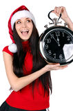 Menina do Natal isolada Imagem de Stock