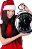 menina do Natal isolada Imagens de Stock Royalty Free